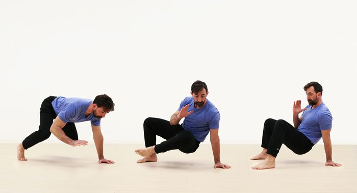Ryan demonstrating the crab transition movement