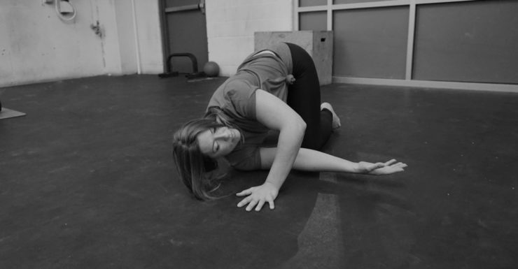 Shoulder stretch across chest