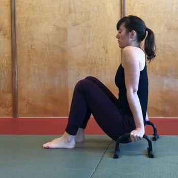 Shoulder exercise on parallettes