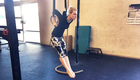 Dip Exercise on Gymnastic Rings