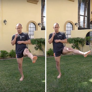 front scale quarter circle knee exercise