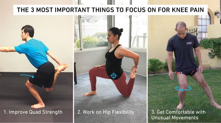 3 most important things to focus on for knee pain