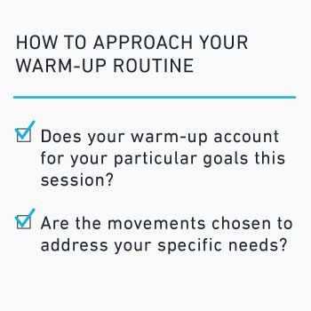 how to approach your warm-up routine