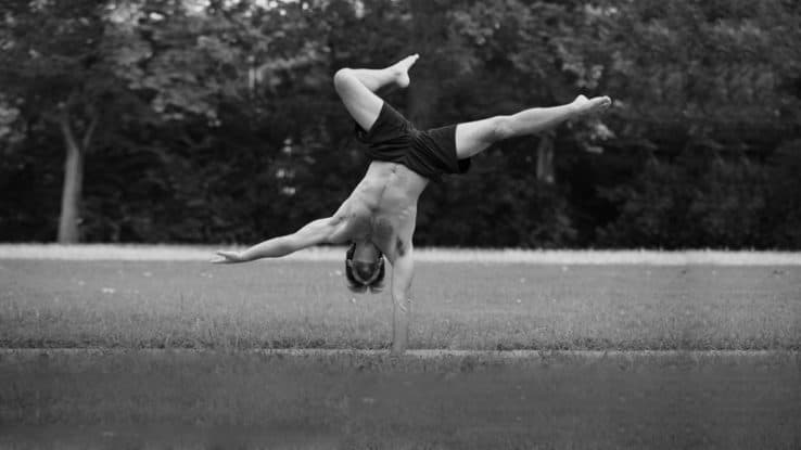 Ryan doing a One Arm Handstand