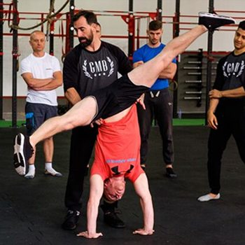 Ryan teaching the handstand