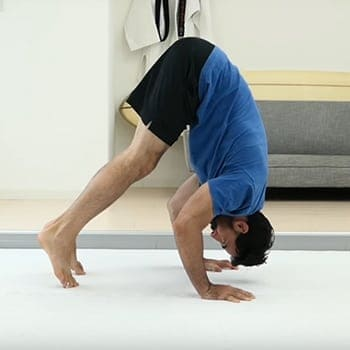 performing a inverted press exercise