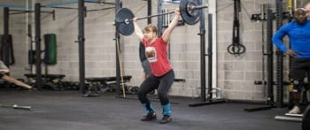 Sara doing olympic weightlifting