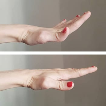 Finger and hand position