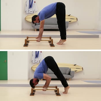 Ryan doing an inverted press on parallettes