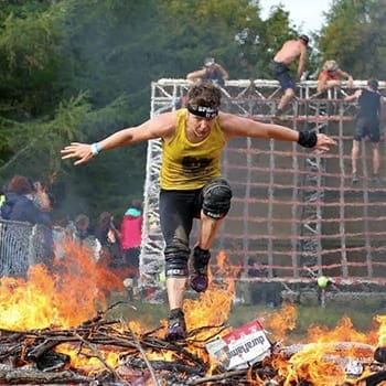 Fi Silk participating in Spartan Race