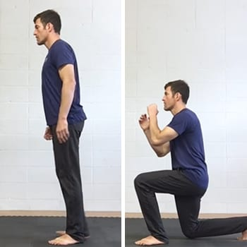 Jeff doing lunge exercise