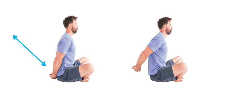 Shoulder Mobility clasped hands extension