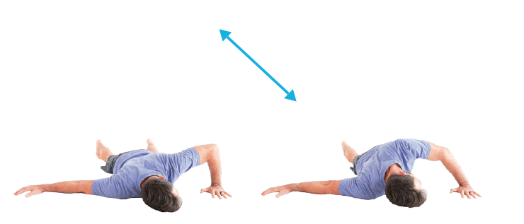 Shoulder Mobility Prone bent arm stretch