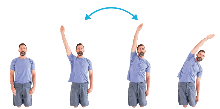 Shoulder Mobility tall kneeling arm raises to the side