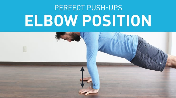 push-up elbow position