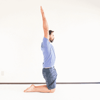 tall kneeling arm raise overhead for shoulder mobility
