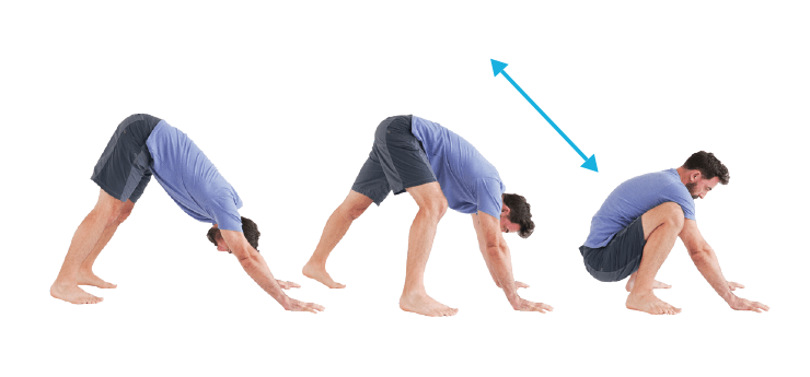 Back Stretches - A-Frame to Squat
