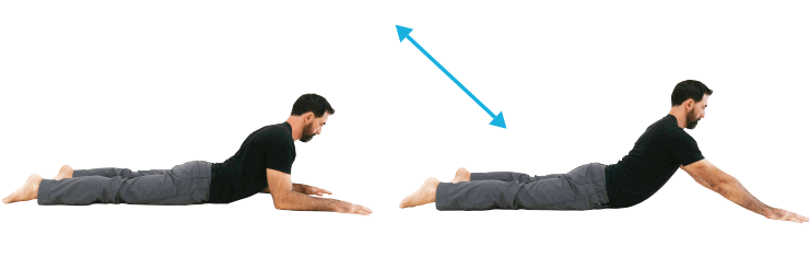 Back stretches - Prone Extension