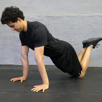 kneeling push-up position