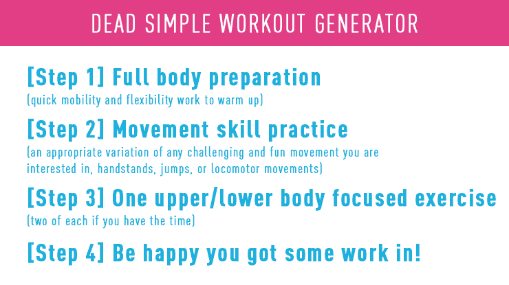 workout generator template