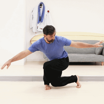 squat twist stretch