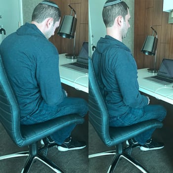 spine movement in chair