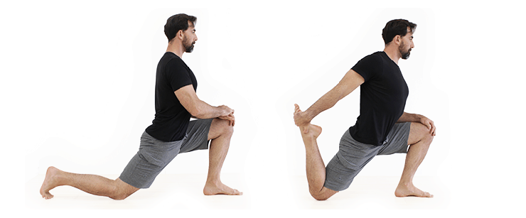 kneeling lunge stretch hip flexibility