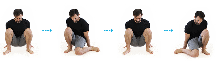 squatting internal rotation hip stretch
