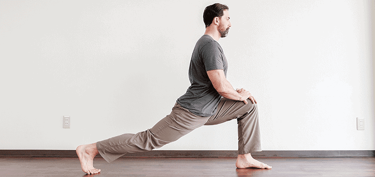 tight psoas lunge position