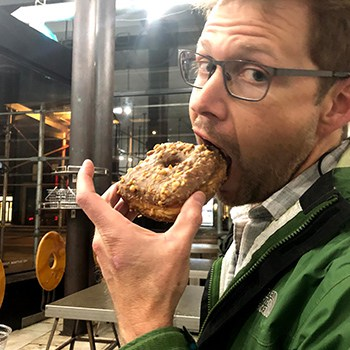 GMB Eating Skills-Andy eating donut