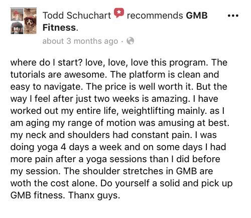 GMB review on Facebook