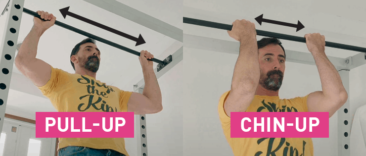 pull-up vs chin-up hand positions