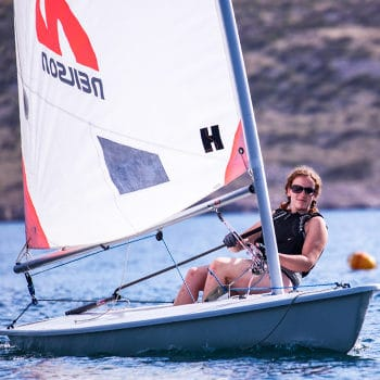 GMB Eating Skills client Beth sailing